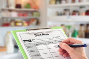 Ein Diätplan hilft beim Abnehmen