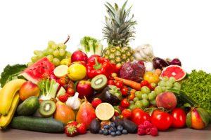 Obst und Gemüse bei der Kartoffel-Diät