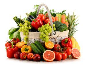 Obst und Gemüse während der Mond-Diät
